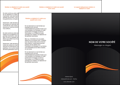 impression depliant 3 volets  6 pages  web design orange gris couleur froide MIF80427