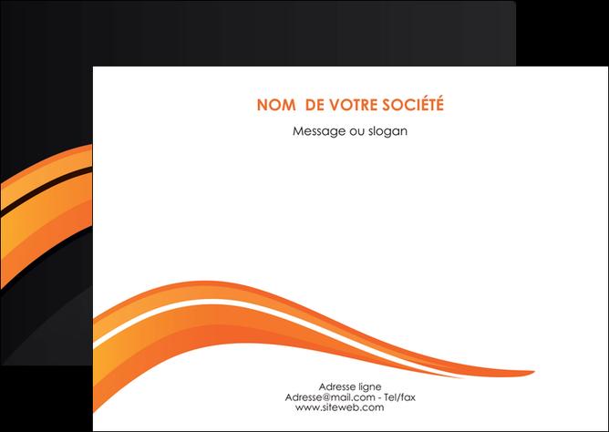 modele en ligne flyers web design orange gris couleur froide MLGI80429