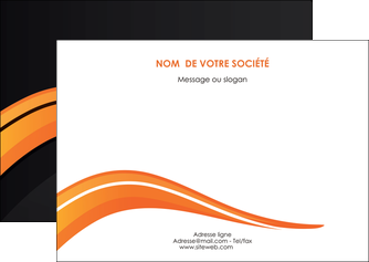 modele en ligne flyers web design orange gris couleur froide MIF80429