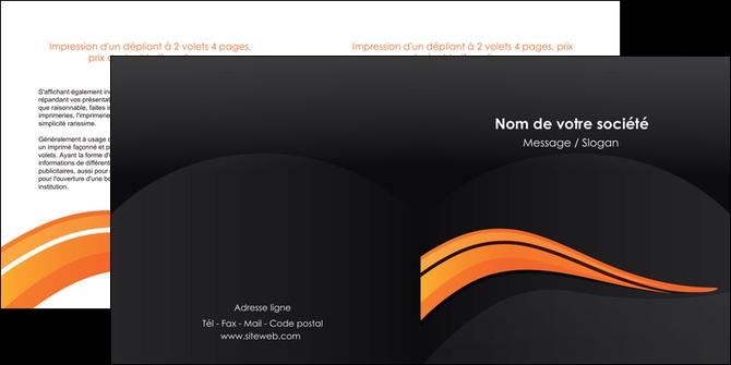 impression depliant 2 volets  4 pages  web design orange gris couleur froide MLGI80431