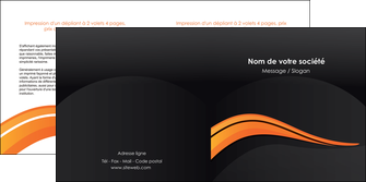 impression depliant 2 volets  4 pages  web design orange gris couleur froide MID80431