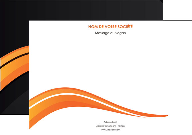 imprimerie flyers web design orange gris couleur froide MLGI80435