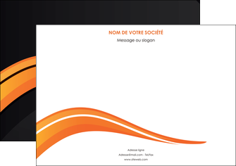 imprimerie flyers web design orange gris couleur froide MIF80435
