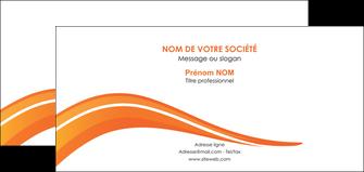 faire modele a imprimer carte de correspondance web design orange gris couleur froide MIS80439