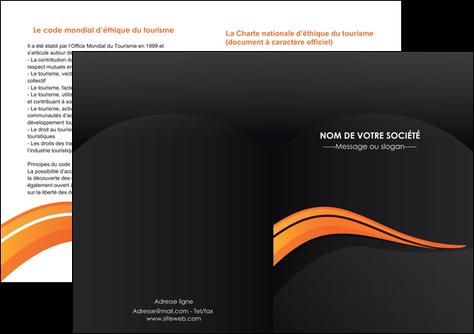 modele en ligne depliant 2 volets  4 pages  web design orange gris couleur froide MLGI80441