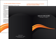 modele en ligne depliant 2 volets  4 pages  web design orange gris couleur froide MIF80441
