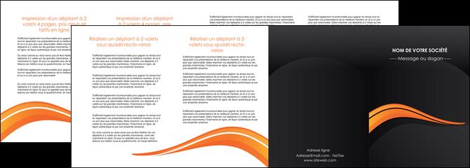 exemple depliant 4 volets  8 pages  web design orange gris couleur froide MLGI80445