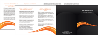 exemple depliant 4 volets  8 pages  web design orange gris couleur froide MIS80445