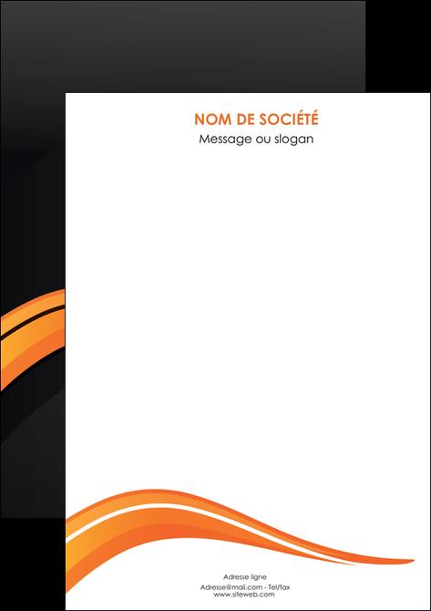 exemple flyers web design orange gris couleur froide MLGI80447