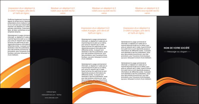 realiser depliant 4 volets  8 pages  web design orange gris couleur froide MLGI80449