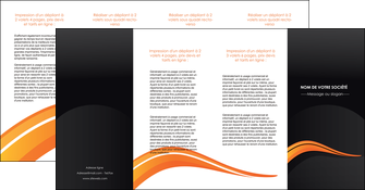 realiser depliant 4 volets  8 pages  web design orange gris couleur froide MIF80449