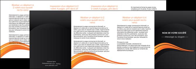 modele en ligne depliant 4 volets  8 pages  web design orange gris couleur froide MLGI80451