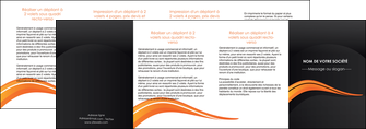 modele en ligne depliant 4 volets  8 pages  web design orange gris couleur froide MID80451