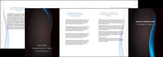 faire depliant 4 volets  8 pages  web design gris fond gris fond MLGI80867