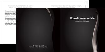 personnaliser modele de depliant 2 volets  4 pages  web design gris fond gris simple MLGI81155