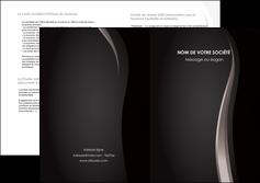 impression depliant 2 volets  4 pages  web design gris fond gris simple MLGI81165