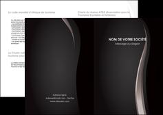modele depliant 2 volets  4 pages  web design gris fond gris simple MLGI81179