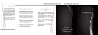 imprimerie depliant 4 volets  8 pages  web design gris fond gris simple MLGI81189