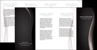 creer modele en ligne depliant 4 volets  8 pages  web design gris fond gris simple MLGI81193