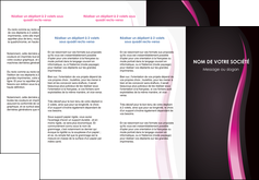 realiser depliant 3 volets  6 pages  violet fond violet gris MLGI81203