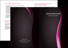 creation graphique en ligne depliant 2 volets  4 pages  violet fond violet gris MLGI81217