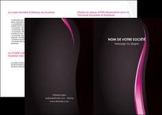 modele depliant 2 volets  4 pages  violet fond violet gris MLGI81231