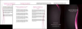 imprimerie depliant 4 volets  8 pages  violet fond violet gris MLGI81241