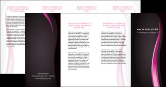 imprimer depliant 4 volets  8 pages  violet fond violet gris MLGI81245