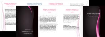 personnaliser modele de depliant 4 volets  8 pages  violet fond violet gris MLGI81247