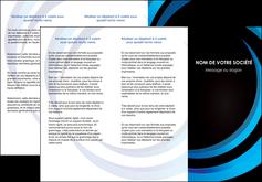 faire depliant 3 volets  6 pages  web design bleu couleurs froides abstrait MLGI81307