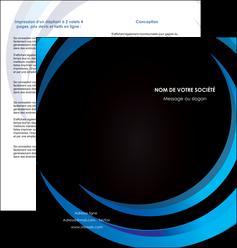 realiser depliant 2 volets  4 pages  web design bleu couleurs froides abstrait MLGI81309