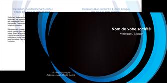 creer modele en ligne depliant 2 volets  4 pages  web design bleu couleurs froides abstrait MLGI81311
