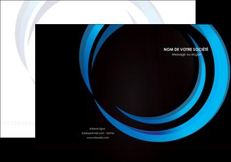 realiser pochette a rabat web design bleu couleurs froides abstrait MLGI81329