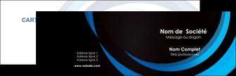 Impression carte remerciement imprimerie Web Design Carte commerciale de fidélité devis d'imprimeur publicitaire professionnel Carte de visite Double - Paysage