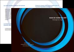 personnaliser modele de depliant 2 volets  4 pages  web design bleu couleurs froides abstrait MLGI81335