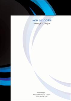 personnaliser modele de affiche web design bleu couleurs froides abstrait MLGI81343