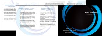 cree depliant 4 volets  8 pages  web design bleu couleurs froides abstrait MLGI81345