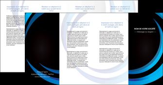faire depliant 4 volets  8 pages  web design bleu couleurs froides abstrait MLGI81349