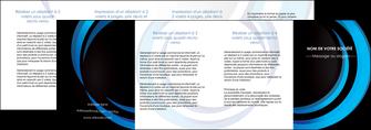 impression depliant 4 volets  8 pages  web design bleu couleurs froides abstrait MLGI81351