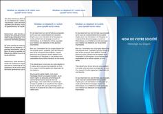 imprimerie depliant 3 volets  6 pages  web design bleu couleurs froides fond bleu MIF81583