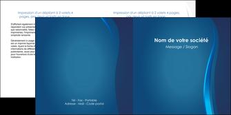 imprimer depliant 2 volets  4 pages  web design bleu couleurs froides fond bleu MIF81587