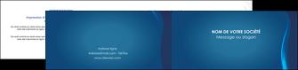 imprimer depliant 2 volets  4 pages  web design bleu couleurs froides fond bleu MIF81593