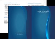 cree depliant 2 volets  4 pages  web design bleu couleurs froides fond bleu MIF81597