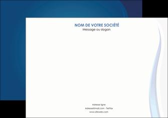 cree affiche web design bleu couleurs froides fond bleu MIF81599