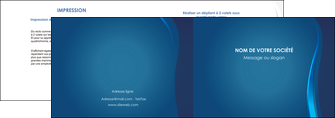 realiser depliant 2 volets  4 pages  web design bleu couleurs froides fond bleu MIF81601