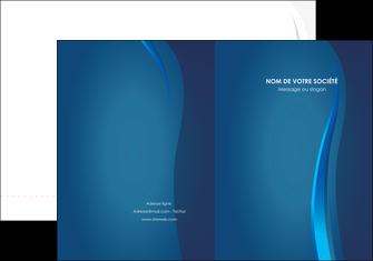 impression pochette a rabat web design bleu couleurs froides fond bleu MIF81603