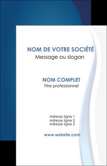 modele en ligne carte de visite web design bleu couleurs froides fond bleu MIF81607