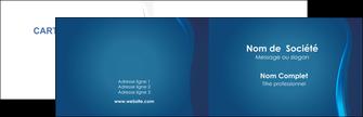 impression carte de visite web design bleu couleurs froides fond bleu MIF81609