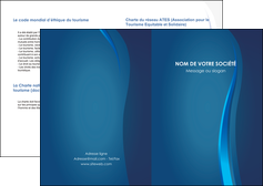 impression depliant 2 volets  4 pages  web design bleu couleurs froides fond bleu MIF81611