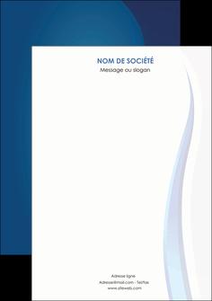personnaliser modele de affiche web design bleu couleurs froides fond bleu MIF81619